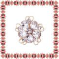 Martisor Brosa Floare Petale Sticla White Crystal