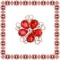 Martisor Brosa Floare Petale Sticla Light Siam