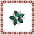 Martisor Brosa Floare Stea Petale Sticla Emerald