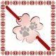 Martisor Bratara Inox Trifoi Rose Gold Iubitoare de Animale