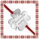 Martisor Bratara Inox Trifoi Argintiu Ghiocei pentru Mama