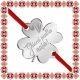Martisor Bratara Inox Trifoi Argintiu Ghiocei pentru Nasa