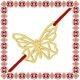 Martisor Bratara Argint 925 Placat Aur 24K Fluture Origami