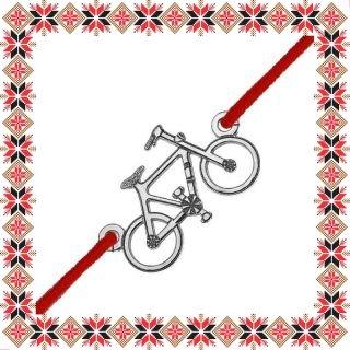 Martisor Bratara Argint 925 Placat Rodiu Alb Bicicleta