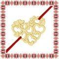 Martisor Bratara Argint 925 Placat Aur 24K Inima din Inimioare