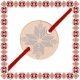 Martisor Bratara Argint 925 Placat Aur Roz 18K Banut cu Motive Traditionale