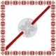 Martisor Bratara Argint 925 Placat Rodiu Alb Banut Mic Motive Traditionale