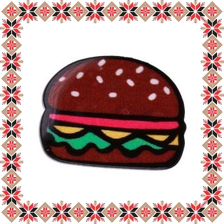 Martisor Brosa Acril Hamburger