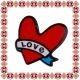 Martisor Brosa Acril Inima Love
