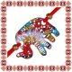 Martisor Bratara Elefant Filigranat Colorat