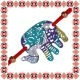 Martisor Bratara Elefant Filigranat Turcoaz Mov