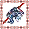 Martisor Bratara Elefant Filigranat Mov