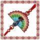 Martisor Bratara Email Paun Multicolor