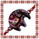 Martisor Bratara Email Elefant Negru