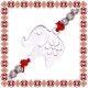 Martisor Bratara Inox Elefant cu Floare
