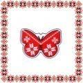 Martisor Brosa Acril Fluture Motive Traditionale