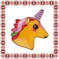 Martisor Brosa Email Unicorn Galben