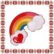 Martisor Brosa Email Curcubeu Multicolor Rosu