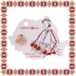 Martisor Brosa Mica Lebada Pietre Cat Eye