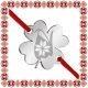 Martisor Bratara Inox Trifoi Argintiu Ghiocel Motive Traditionale