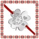 Martisor Bratara Inox Trifoi Argintiu Inima Motive Traditionale