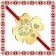 Martisor Bratara Inox Trifoi Auriu Inima Motive Traditionale
