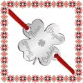 Martisor Bratara Inox Trifoi Argintiu Cele Patru Foi ale Trifoiului