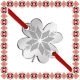 Martisor Bratara Inox Trifoi Argintiu Floare Motive Traditionale