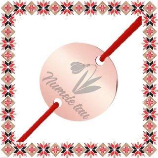 Martisor Bratara Inox Banut Rose Gold Nume Personalizat