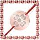 Martisor Bratara Inox Banut Rose Gold Trifoi Motive Traditionale