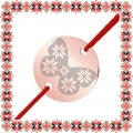 Martisor Bratara Inox Banut Rose Gold Fluture Motive Traditionale
