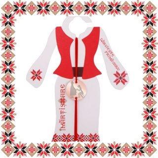 Martisor Bratara Inox Banut Rose Gold Designer Vestimentar