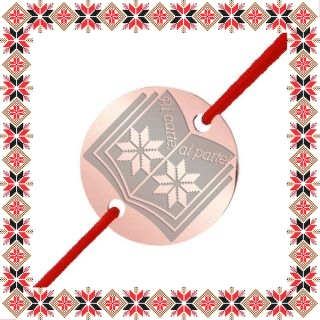 Martisor Bratara Inox Banut Rose Gold Carte