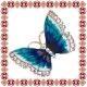 Martisor Unicat Brosa Turquoise Butterfly