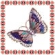 Martisor Unicat Brosa Purple Butterfly