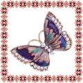 Martisor Unicat Brosa Purple Butterfly