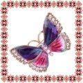 Martisor Unicat Brosa Pink Butterfly