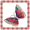 Martisor Unicat Brosa Rainbow Butterfly