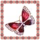 Martisor Unicat Brosa Burgundy Butterfly
