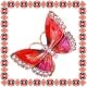 Martisor Unicat Brosa Coral Butterfly