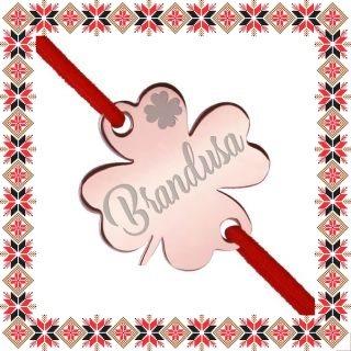Martisor Bratara Inox Trifoi Rose Gold Nume Brandusa