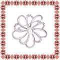 Martisor Brosa Floare Eleganta Argintiu Mat