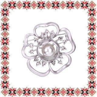 Martisor Brosa Floare Anemona Argintiu Mat
