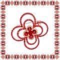Martisor Brosa Contur Floare Pietre Rosii