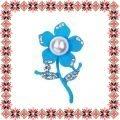 Martisor Brosa Floricica Fericita Bleu Mat