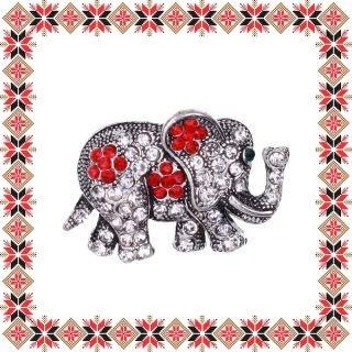 Martisor Brosa Elefantel Pietre Rosii