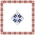 Martisor Pandantiv Motive Traditionale Romb Albastru