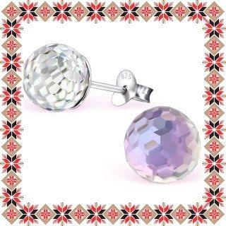 Cercei Martisor Moon Argint 925 Cristale Swarovski Vitrail Light
