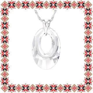 Colier Martisor Helios Argint 925 Cristale Swarovski Crystal Clear