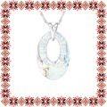 Colier Martisor Helios Argint 925 Cristale Swarovski White Patina